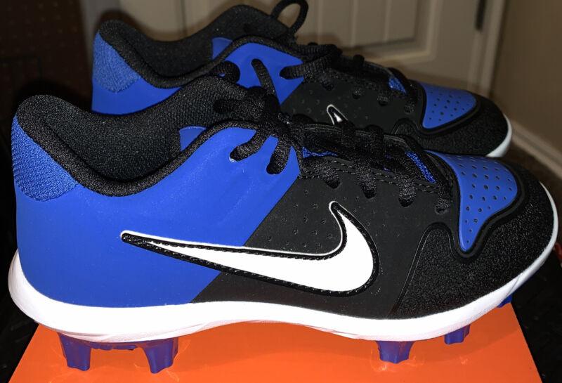 Nike Alpha Huarache Varsity Low MCS Baseball Cleats Blue & Black Youth Sz 6Y