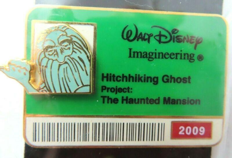 Disney Pin * WDI - ID Badge Series 2009 - Hitchhiking Ghost - Gus LE 300 #70876