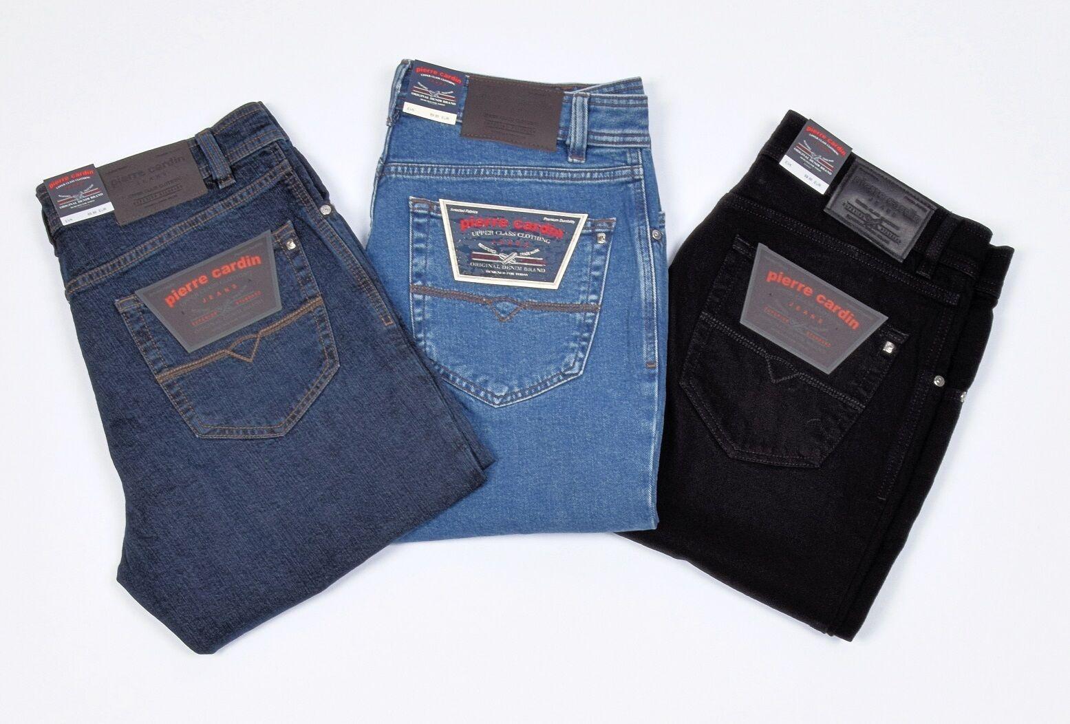 Pierre Cardin Dijon Herren Regular Stretch Comfort Jeans hoher Bund Hose