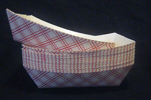 (25) Food Trays 3 lbs Baskets Boats Printed Paper Cardboard Concessions Parties