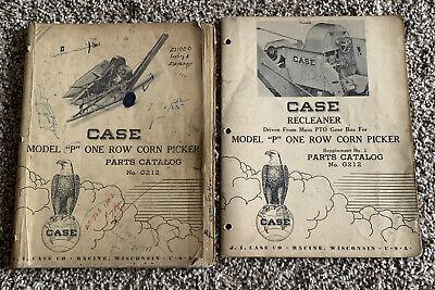 Vintage Case Model P One Row Corn Picker Parts Catalog No. G212 Supplement