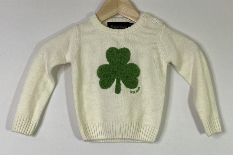 Traditional Craft Heritage Baby Sweater Shamrock Ireland Theme Size 1-2 Years