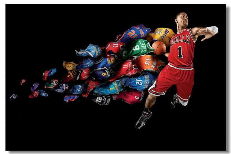 Poster Dwyane Wade Basketball Star Boy Room Art Wall Cloth Print 510
