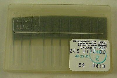 10 Federal-mogul 59 .0410 Dia. 1.5 Oal Solid Carbide Pcb Drill Bits Usa