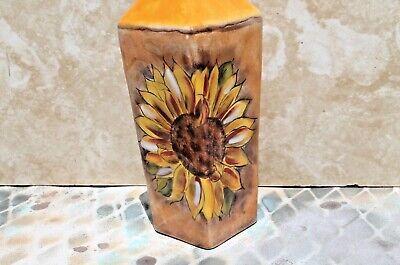 Sunflower Oil China - Ceramic Oil Vinegar Decanter Bottle, SUNFLOWER with Cork Stopper, New