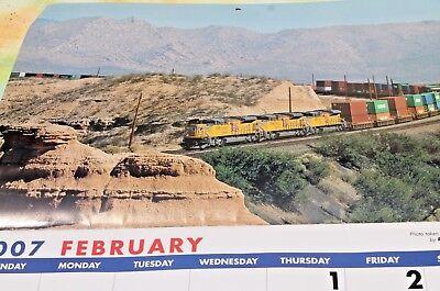 Union Pacific RR Train Locomotive Picture Calendar, 2007 FREE -