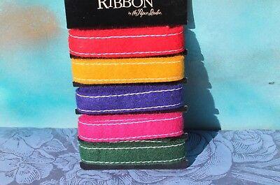 Paper Studio Craft Scrapbook Felt Ribbon Jewel colors, New FREE SHIPPING!
