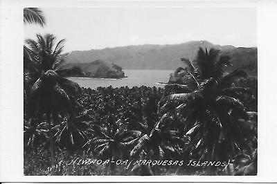 Hiwaoa-oa Marquesas Islands RPPC Real Photo vintage postcard postally unused