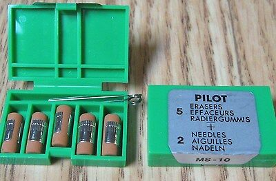 15 Pilot Ms10 Eraser Refills For Mechanical Pencils Pil70001 Three 5 Packs