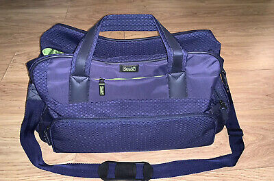 Stratic Navy & Green Hand Luggage Holdall Bag