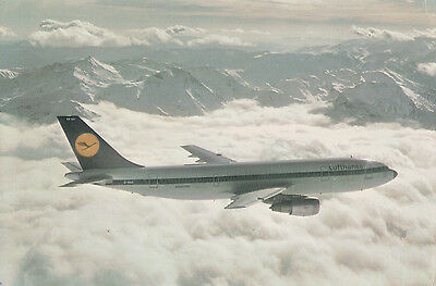 2 Postcards of Airbus Industrie Airbus A300 Lufthansa Air France
