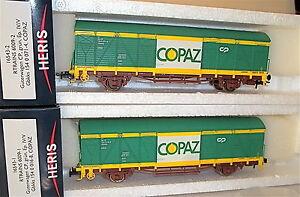 2-partes-set-CP-COPAZ-Vagon-de-mercancia-gbkks-Verde-epiv-V-HERIS-16543-H0-1-87