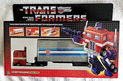 G1 1984 OPTIMUS PRIME BOXED #1 • 100% COMPLETE • GENERATION ONE TRANSFORMER