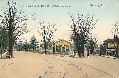 FLUSHING QUEENS NY – Main Street Jaggar and Jamaica Avenues - 1911