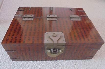 ASIAN ANTIQUE Treasure box 35cm x 25cm x 12cm