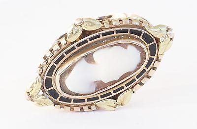 (14K Yellow Gold JMC Large Slide Bracelet Charm Cameo)