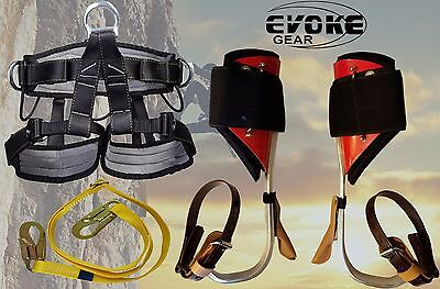 Tree Climbing Spike Setaluminum Pole Spurs Climbers With Pro Harness New