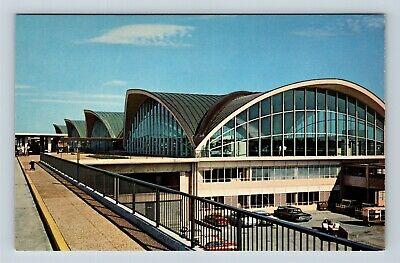 St Louis MO, Municipal Airport Terminal Building, Chrome Missouri Postcard Municipal Airport Terminal