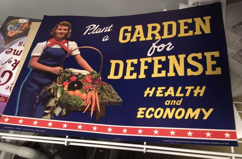Wwii Victory Garden Poster 12x17