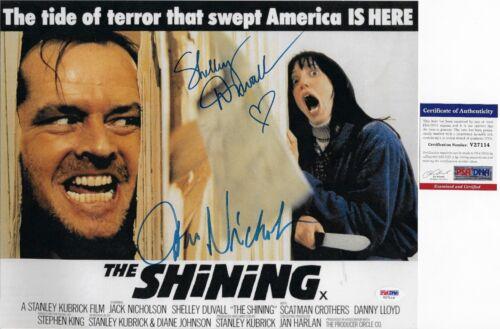 Jack Nicholson Shelley Duvall Signed 11x14 Photo The Shining PSA DNA Autograph