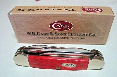 CASE CANOE 4 BLADE POCKET KNIFE #01602 RED NIB