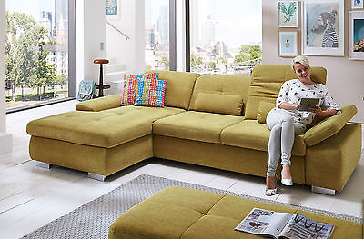 Individuelle Möbel Sofa (Megapol Artus Ecksofa Schlafsofa Sofa mit Recamiere Polstergarnitur individuell)
