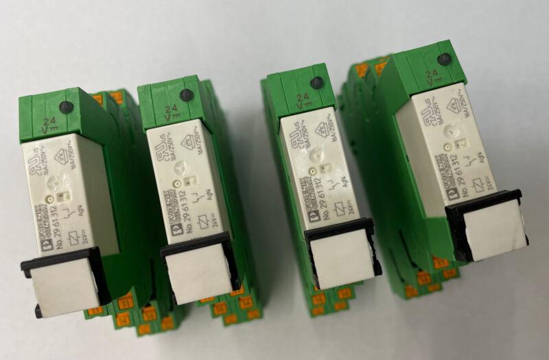 Phoenix Contact Relay Lot of 4 PLC-bpt 24dc 21hc 24V dc coil 15A 250V Din rail