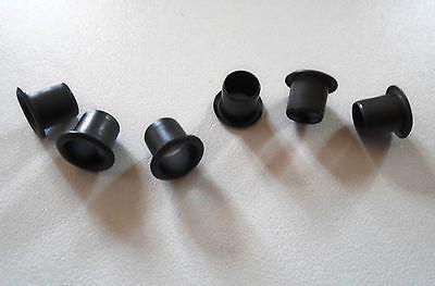 new 6 bushings 0 5 16in black