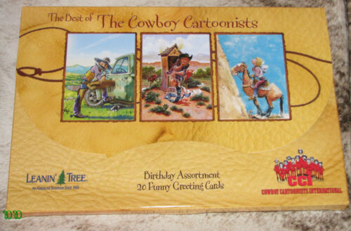 LEANIN TREE Best of Cowboy Cartoonists 20 Greeting Cards~20 designs~#90773