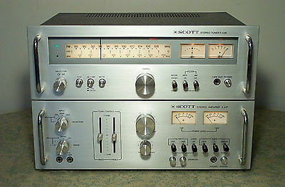 BEAUTIFUL SCOTT A-437 & T-526 STEREO TUNER & INTEGRATED AMPLIFIER POWER AMP