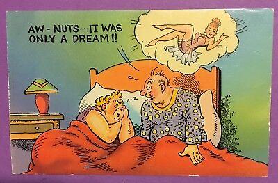 "Vintage Antique Post Card, ""TechnoGloss"", Marriage Humor, Dream"