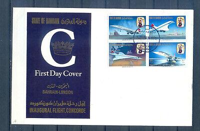 BAHRAIN FDC  INAUGURAL FLIGHT CONCORD 1976   BAHRAIN-LONDON  MNH