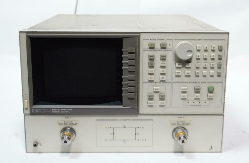HP 8720C 50MHz - 20GHz RF Vector Network Analyzer w/ Options 001 & 010 AS-IS