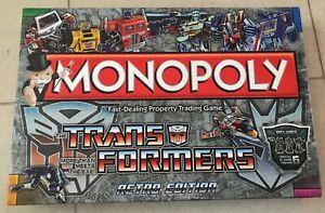 Transformers Monopoly Retro Edition