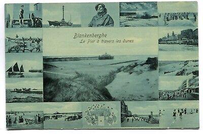 CPA - Carte Postale - Belgique - Blankenberge - Le Pier à travers les Dunes