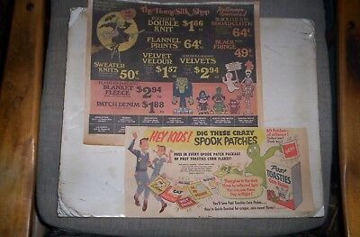 Lot of Vintage 1950's,60's Halloween Sunday Comic Ads