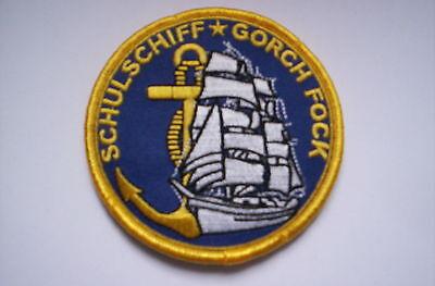 Aufnäher des Segelschulschiffes Gorch Fock Deutsche Marine ca 8,5 cm mit Klett  Marine 8