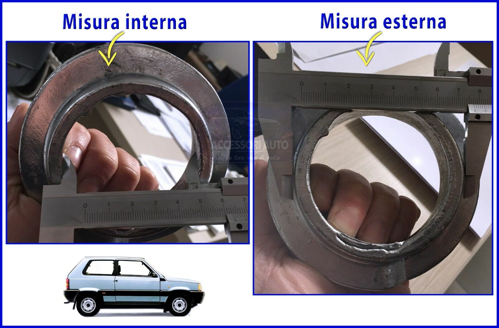 Kit Spessori 15 mmMolle Anteriori Fiat Panda 2x4-4x4 dal 1987 al 2003 Mod 141