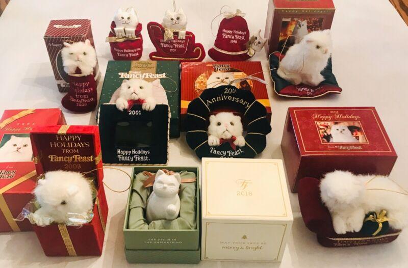 Lot of 10 Fancy Feast Christmas Ornaments