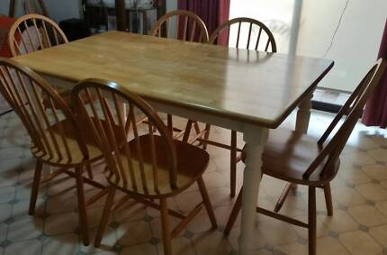 SOLD (Pending Pickup) Dining Table and 6 Chairs Huntfield Heights Morphett Vale Area Preview