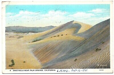 Sand Hills near Palm Springs CA Colorado Desert Vintage Postcard (Desert Hills Palm Springs)
