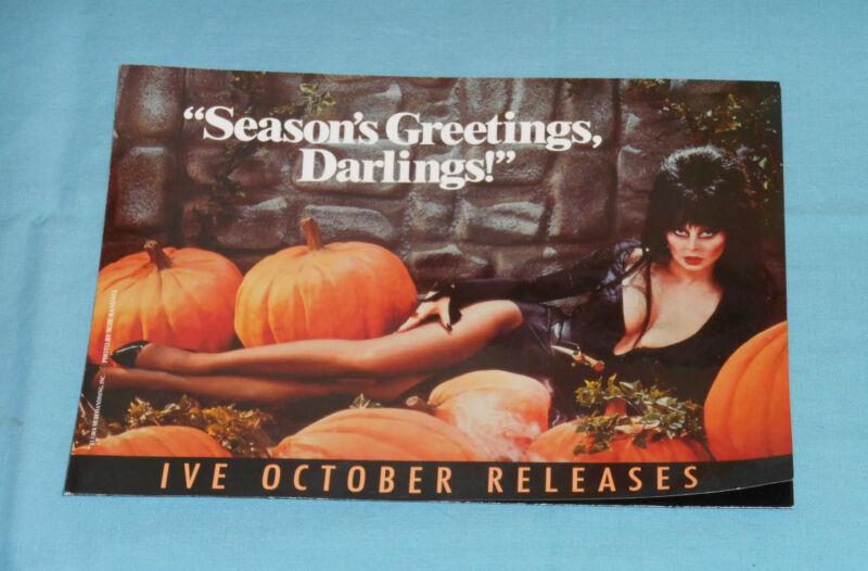 vintage ELVIRA Halloween IVE ThrillerVideo ADVERTISING BROCHURE flyer