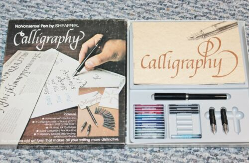 VINTAGE CALLIGRAPHY SET BY SHEAFER NO NONSENSE PEN NO 72261