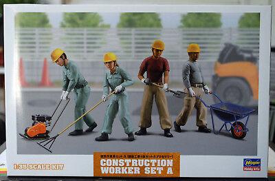 66003 Hasegawa Construction Worker Straßenbauarbeiter Hitachi Baumaschinen 1:35