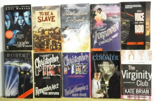 Lot of 10 YOUNG ADULT BOOKS novels FREE US S/H Read List Lot #H402
