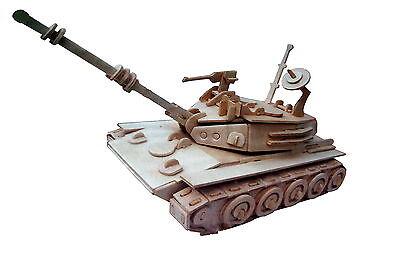 Holz Panzer Holzbausatz 3D Puzzle Holzpuzzle Modellbau Holzmodellbau NEU