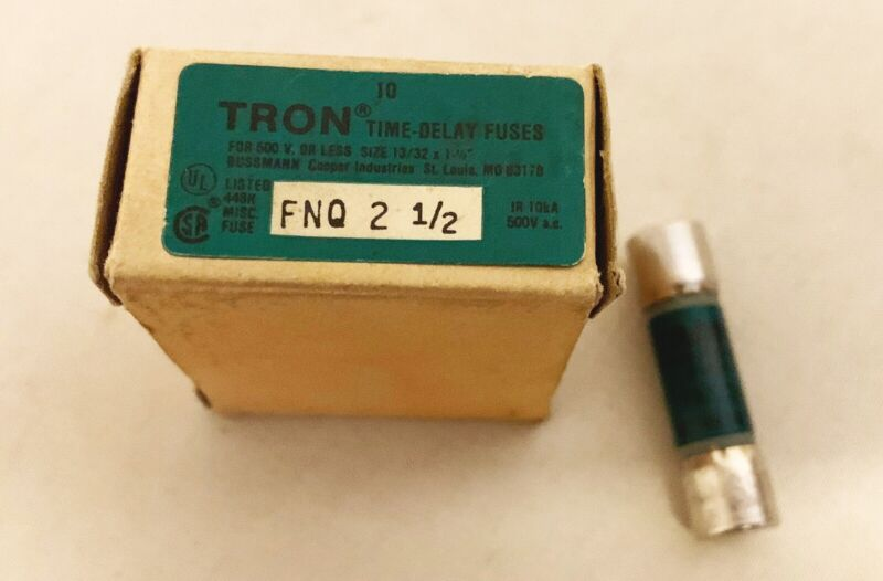 Tron Fnq 2 1/2 Time Delay Fuse Lot Of 10 New