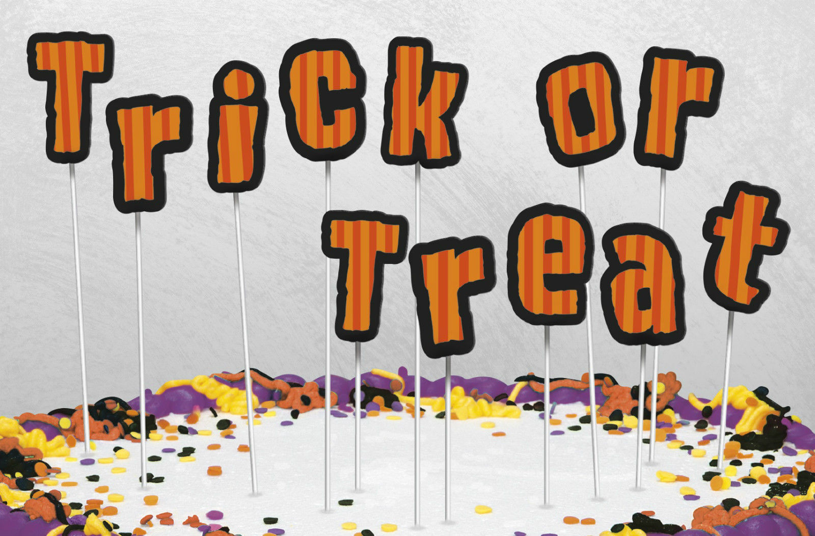 Trick or Treat Letter Cake