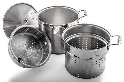 - NEW - Culina 12 Qt. Multi Pot Cooker 4-Piece Heavy Gauge 18/10 Stainless Steel