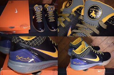 09d98df13d1a DS 2009 Nike Kobe 4 IV  Carpe Diem  344335-001 ~ Black Purple Yellow